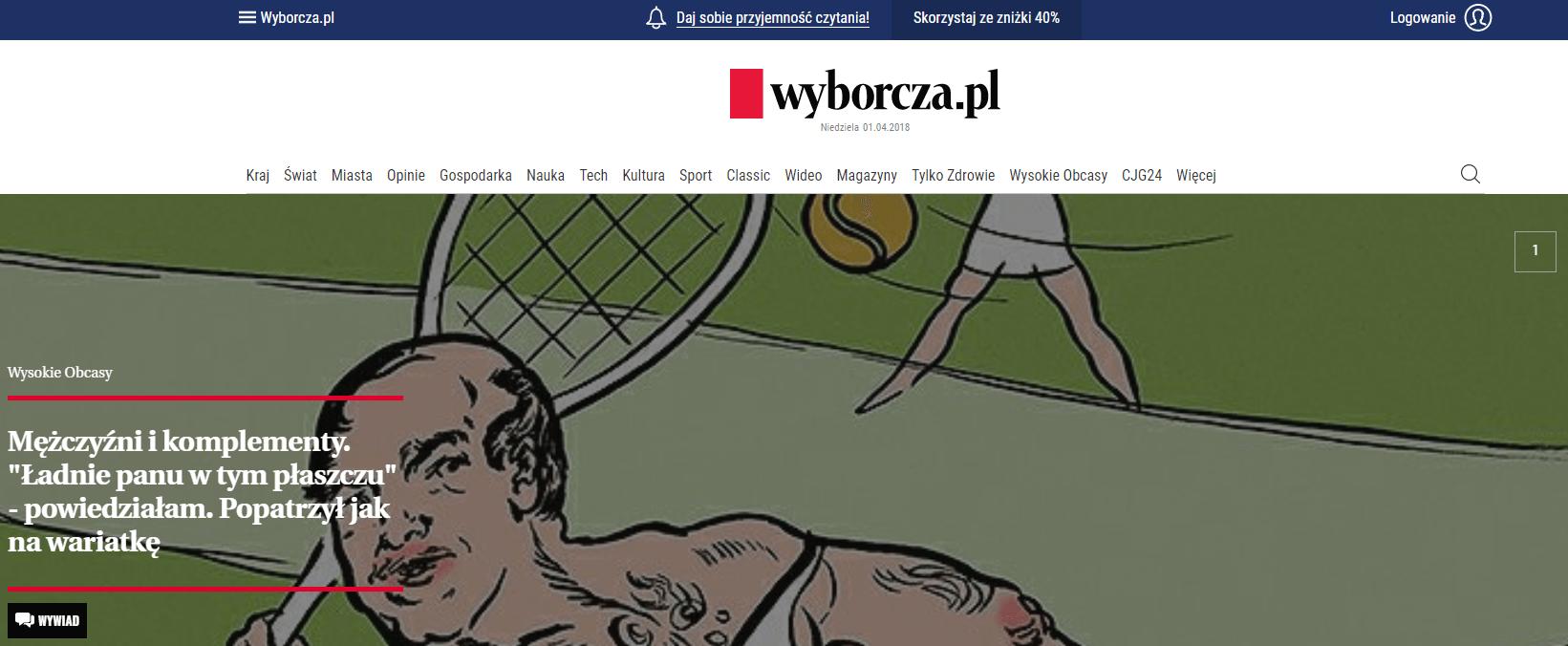 Главная страница wyborcza.pl